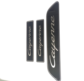 logo plate with color coating