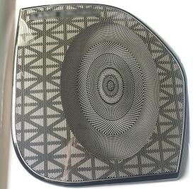color coating speaker grille